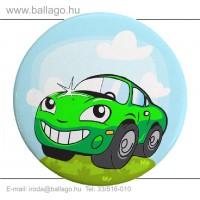 Kitűző: Autó-zöld