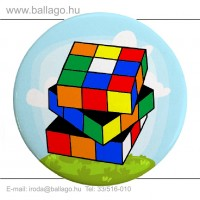 Kitűző: Rubik kocka