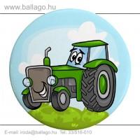 Kitűző: Traktor-zöld