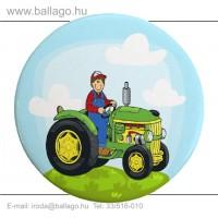 Kitűző: Traktoros-zöld