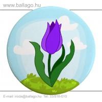 Kitűző: Tulipán-lila