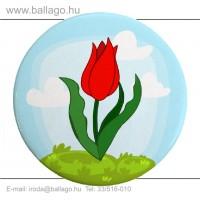 Kitűző: Tulipán-piros