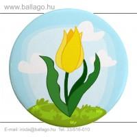 Kitűző: Tulipán-sárga