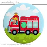 Kitűző: Tűzoltó-autós
