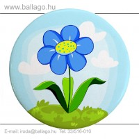 Kitűző: Virág-kék