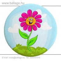 Kitűző: Virág-mosolygós
