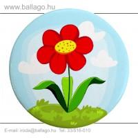 Kitűző: Virág-piros