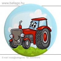 Kitűző: Traktor-piros