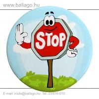 Kitűző: Stop tábla