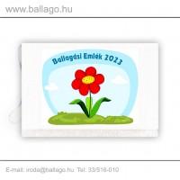 Jeles tarisznya: Virág-piros